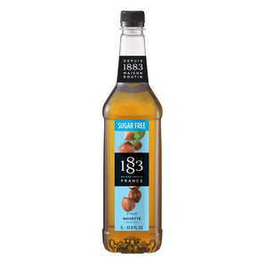Sugar Free Hazelnut Syrup 1883 Maison Routin - 1 Liter Bottle-Syrups-1883 Maison Routin-Carry Out Supplies
