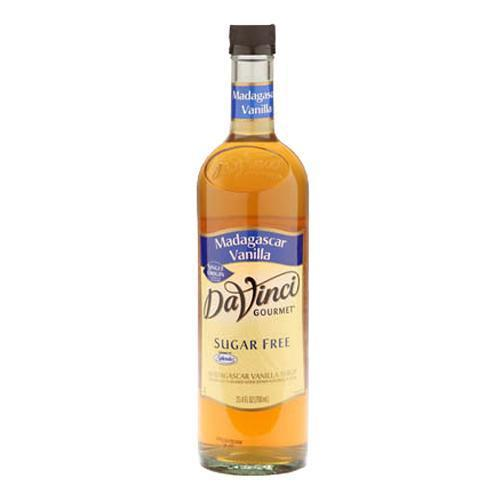 Sugar Free Madagascar Vanilla DaVinci Syrup Bottle - 750mL-Syrups-DaVinci Gourmet-Carry Out Supplies