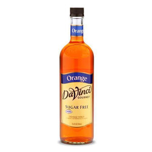 Sugar Free Orange DaVinci Syrup Bottle - 750mL-Syrups-DaVinci Gourmet-Carry Out Supplies