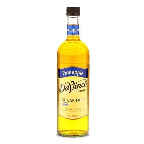 Sugar Free Pineapple DaVinci Syrup Bottle - 750mL-Syrups-DaVinci Gourmet-Carry Out Supplies