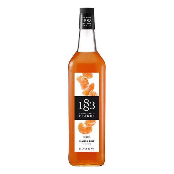 Tangerine Syrup 1883 Maison Routin - 1 Liter Bottle-Syrups-1883 Maison Routin-Carry Out Supplies