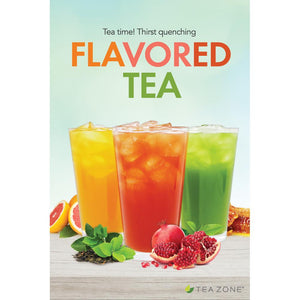 "Tea Zone ""Flavored Tea"" Poster-Displays-Karat-Carry Out Supplies"