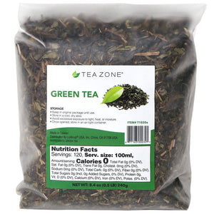 Tea Zone Green Tea Leaves - Bag (8.46oz)-Tea Leaves-Tea Zone-Carry Out Supplies