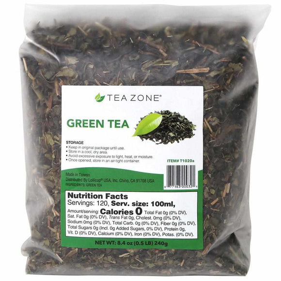 Tea Zone Green Tea Leaves - Case-Tea Leaves-Tea Zone-Carry Out Supplies