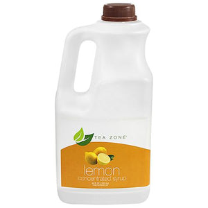 Tea Zone Lemon Syrup Bottle - 64 oz-Syrups-Tea Zone-Carry Out Supplies
