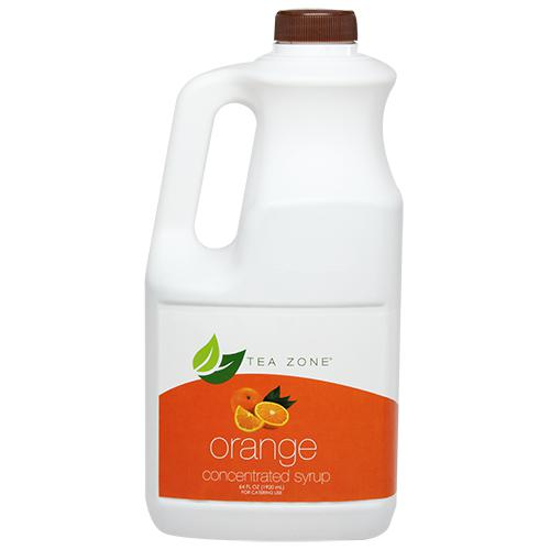 Tea Zone Orange Syrup Bottle - 64 oz-Syrups-Tea Zone-Carry Out Supplies