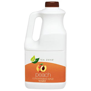 Tea Zone Peach Syrup Bottle - 64 oz-Syrups-Tea Zone-Carry Out Supplies