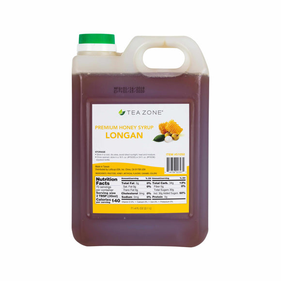 TEA ZONE PREMIUM LONGAN HONEY (71.4 FL. OZ.) S1050-Syrups-Restaurant Supply Drop-Carry Out Supplies