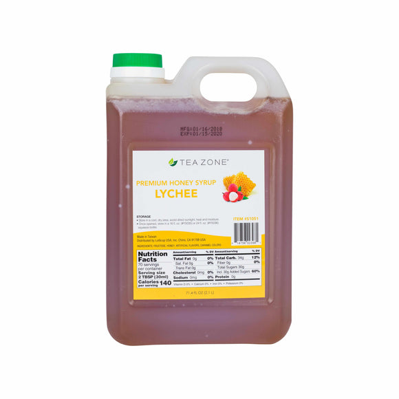 TEA ZONE PREMIUM LYCHEE HONEY (71.4 FL. OZ.) S1051-Syrups-Restaurant Supply Drop-Carry Out Supplies