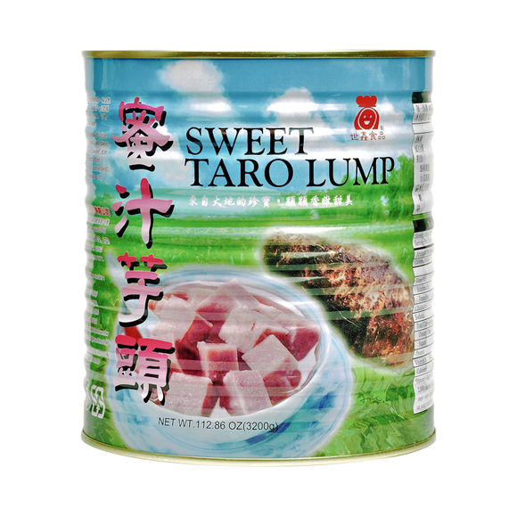 Premium Sweet Taro Chopped Lumps (7.05 lbs)-Canned Toppings-Tea Zone-Restaurant Supply Drop