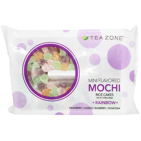 Tea Zone Rainbow Mini Mochi - Case of Rainbow Mochi Topping. Tea Zone-Carry Out Supplies