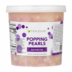 TEA ZONE RAINBOW POPPING PEARLS (7 LBS)-Popping Pearls-Restaurant Supply Drop-Carry Out Supplies