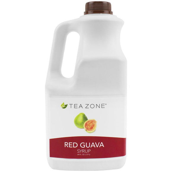 Tea Zone Red Guava Syrup Bottle - 64 oz-Syrups-Tea Zone-Carry Out Supplies
