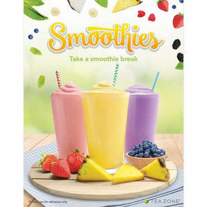"Tea Zone ""Smoothie"" Poster-Displays-Karat-Carry Out Supplies"