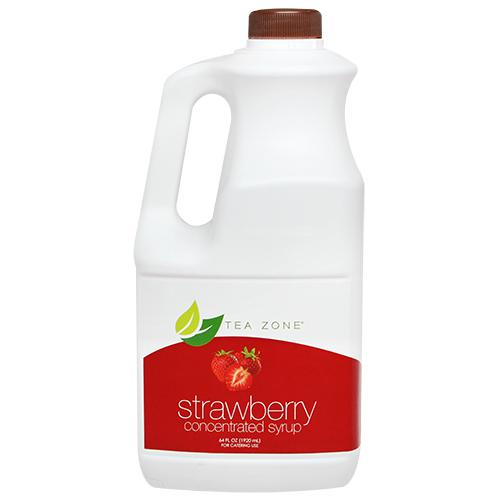 Tea Zone Strawberry Syrup Bottle - 64 oz-Syrups-Tea Zone-Carry Out Supplies