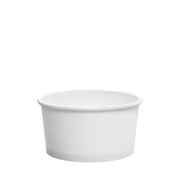 To Go Soup Containers 6oz Gourmet Food Cup - White (96mm) - 500 ct-To-Go Packaging-Karat-No Lids-Carry Out Supplies