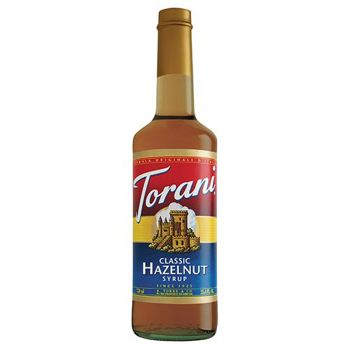 Torani Classic Hazelnut Syrup - 750 ml Bottle-Syrups-torani-Carry Out Supplies