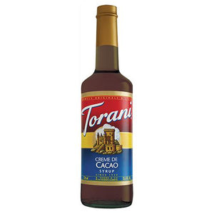 Torani Creme de Cacao Syrup - 750 ml Bottle-Syrups-torani-Carry Out Supplies