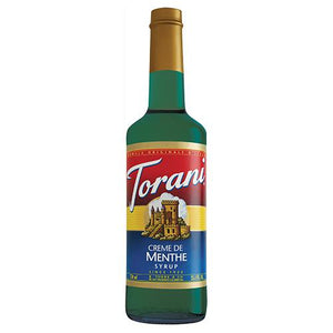 Torani Creme de Menthe Syrup - 750 ml Bottle-Syrups-torani-Carry Out Supplies