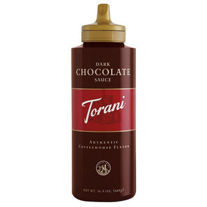 Torani Dark Chocolate Sauce Squeeze Bottle (16.5oz)-Sauces-torani-Carry Out Supplies