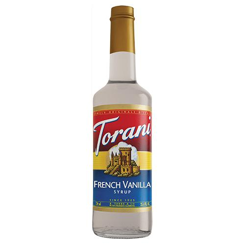 Torani French Vanilla Syrup - 750 ml Bottle-Syrups-torani-Carry Out Supplies