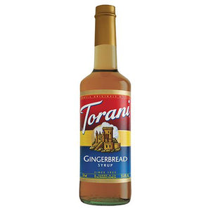 Torani Gingerbread Syrup - 750 ml Bottle-Syrups-torani-Carry Out Supplies