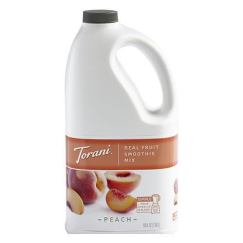 Torani Peach Real Fruit Smoothie Mix (64oz)-Liquid Base & Purees-torani-Carry Out Supplies