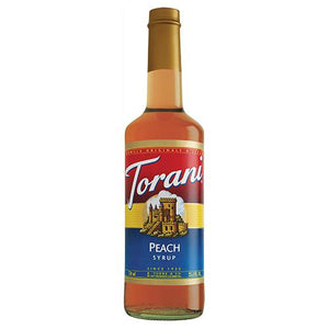 Torani Peach Syrup - 750 ml Bottle-Syrups-torani-Carry Out Supplies