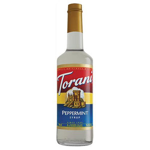 Torani Peppermint Syrup - 750 ml Bottle-Syrups-torani-Carry Out Supplies