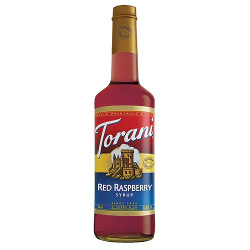 Torani Red Raspberry Syrup - 750 ml Bottle-Syrups-torani-Carry Out Supplies
