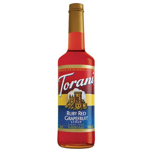 Torani Ruby Red Grapefruit Syrup - 750 ml Bottle-Syrups-torani-Carry Out Supplies