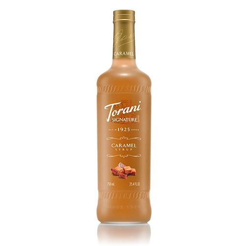 Torani Signature Caramel Syrup - 750 ml Bottle-Syrups-torani-Carry Out Supplies