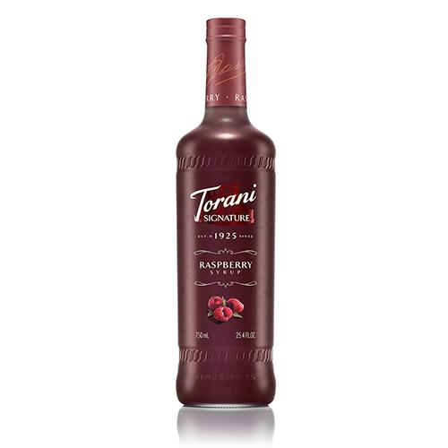 Torani Signature Raspberry Syrup - 750 ml Bottle-Syrups-torani-Carry Out Supplies