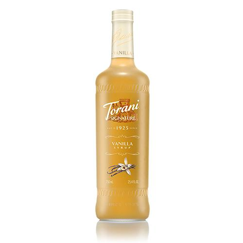 Torani Signature Vanilla Syrup - 750 ml Bottle-Syrups-torani-Carry Out Supplies