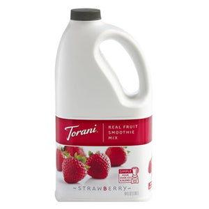 Torani Strawberry Real Fruit Smoothie Mix (64oz)-Liquid Base & Purees-torani-Carry Out Supplies