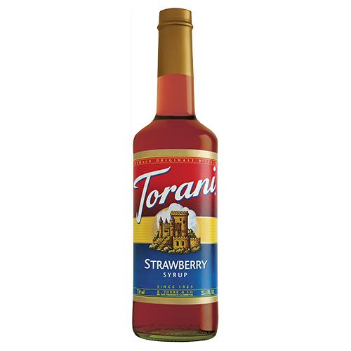 Torani Strawberry Syrup - 750 ml Bottle-Syrups-torani-Carry Out Supplies