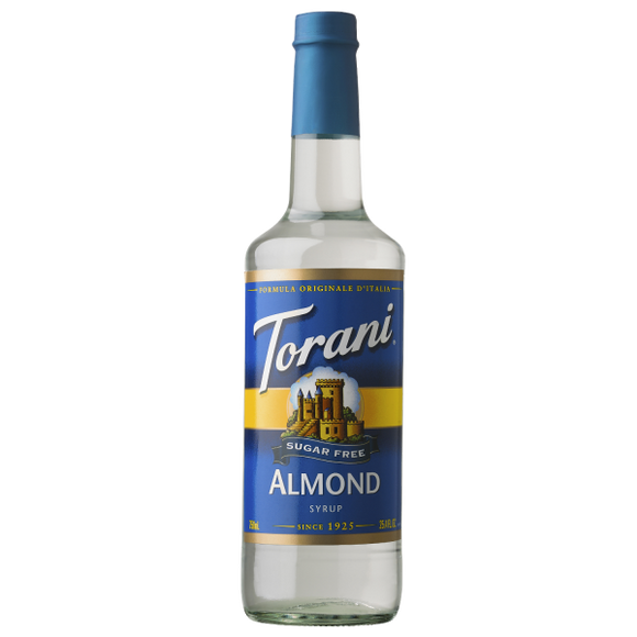 Torani Sugar Free Almond Syrup - 750 ml Bottle-Restaurant Supply Drop