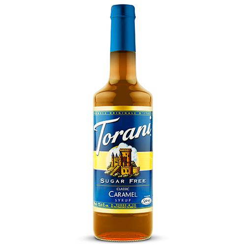 Torani Sugar Free Classic Caramel Syrup - 750 ml Bottle-Syrups-torani-Carry Out Supplies