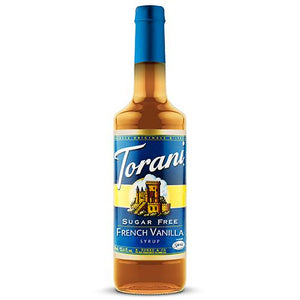 Torani Sugar Free French Vanilla Syrup- 750 ml Bottle-Syrups-torani-Carry Out Supplies