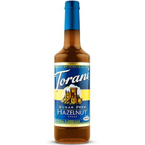 Torani Sugar Free Hazelnut Syrup - 750 ml Bottle-Syrups-torani-Carry Out Supplies