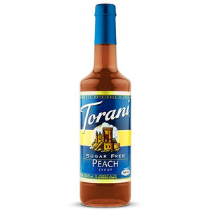 Torani Sugar Free Peach Syrup - 750 ml Bottle-Syrups-torani-Carry Out Supplies