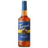 Torani Sugar Free Peach Syrup - 750 ml Bottle-Restaurant Supply Drop