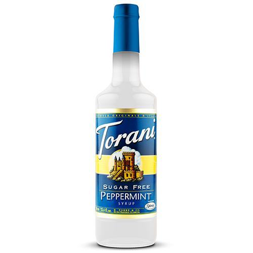Torani Sugar Free Peppermint Syrup - 750 ml Bottle-Syrups-torani-Carry Out Supplies