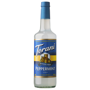 Torani Sugar Free Peppermint Syrup - 750 ml Bottle-Restaurant Supply Drop