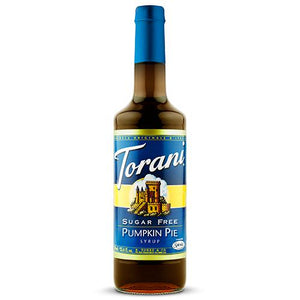 Torani Sugar Free Pumpkin Pie Syrup - 750 ml Bottle-Syrups-torani-Carry Out Supplies