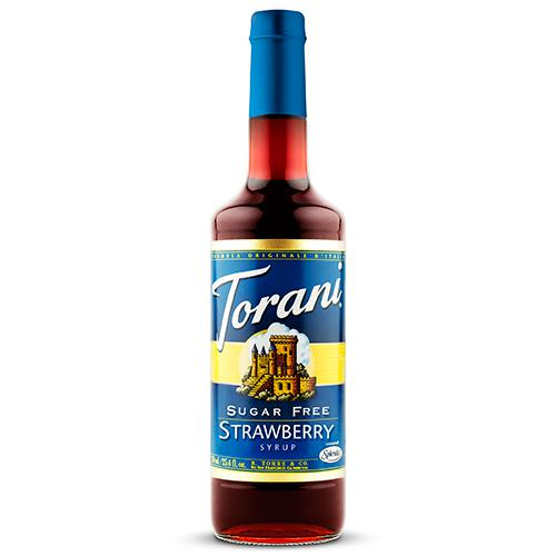 Torani Sugar Free Strawberry Syrup - 750 ml Bottle-Syrups-torani-Carry Out Supplies