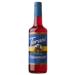Torani Sugar Free Strawberry Syrup - 750 ml Bottle-Restaurant Supply Drop