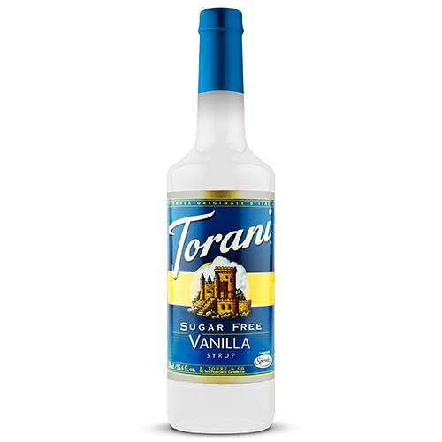 Torani Sugar Free Vanilla Syrup - 750 ml Bottle-Syrups-torani-Carry Out Supplies