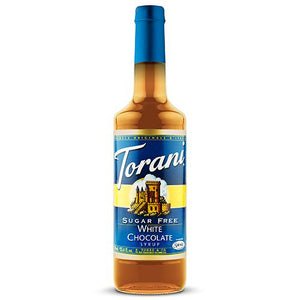 Torani Sugar Free White Chocolate Syrup - 750 ml Bottle-Syrups-torani-Carry Out Supplies