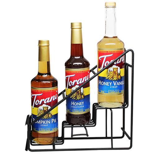 Torani Syrup Wire Rack (3 Bottles)-Syrups-torani-Carry Out Supplies